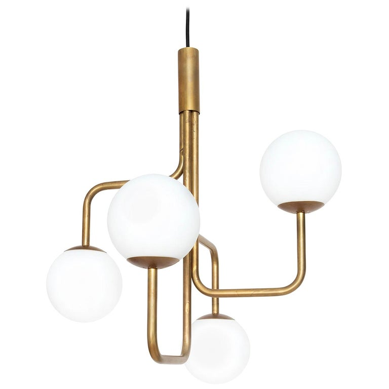 Sabina Grubbeson Strapatz Glob Brass Ceiling Lamp by Konsthantverk For Sale
