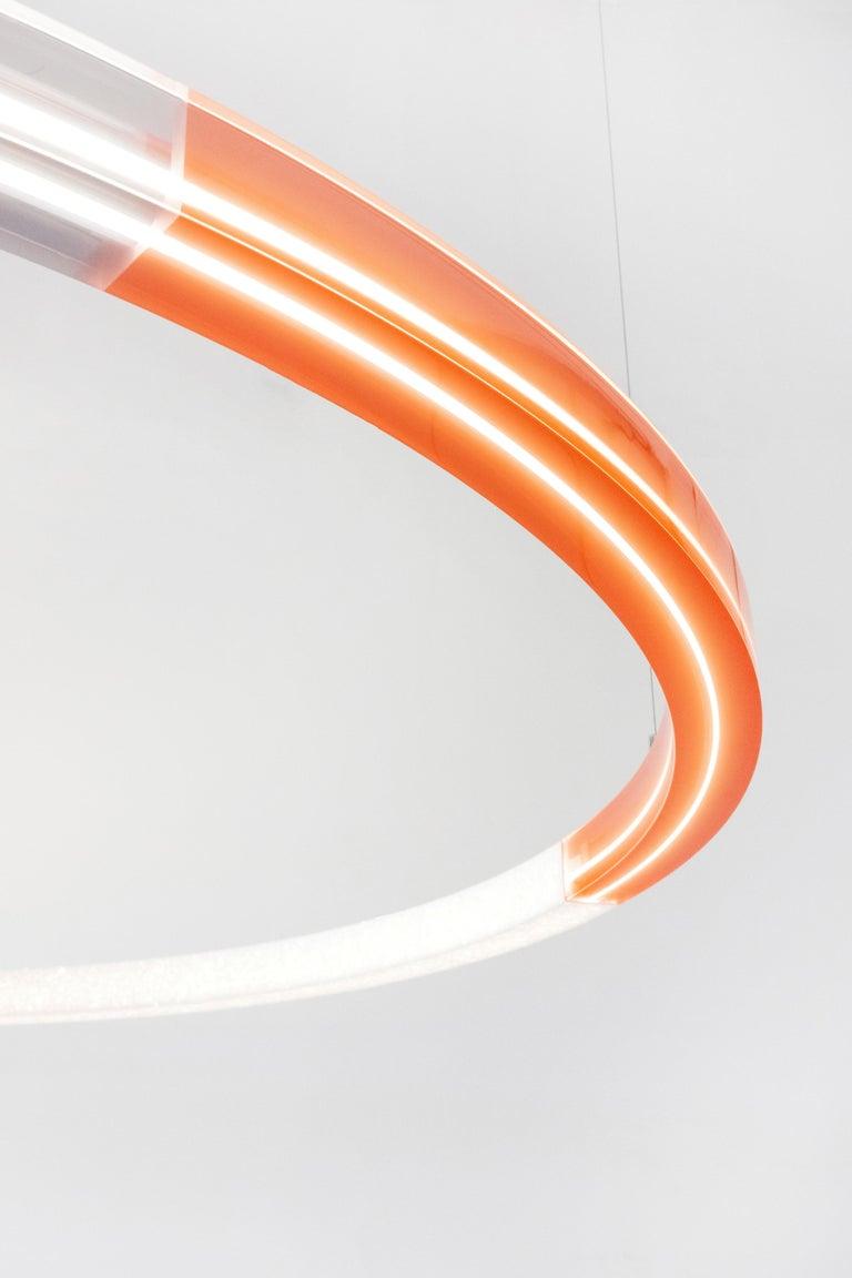 Sabine Marcelis Contemporary Amber Red Resin Circular Pendant Lamp Filter Series For Sale 2