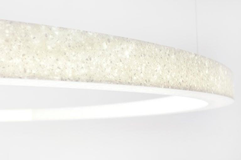 Sabine Marcelis Contemporary Amber Red Resin Circular Pendant Lamp Filter Series For Sale 3