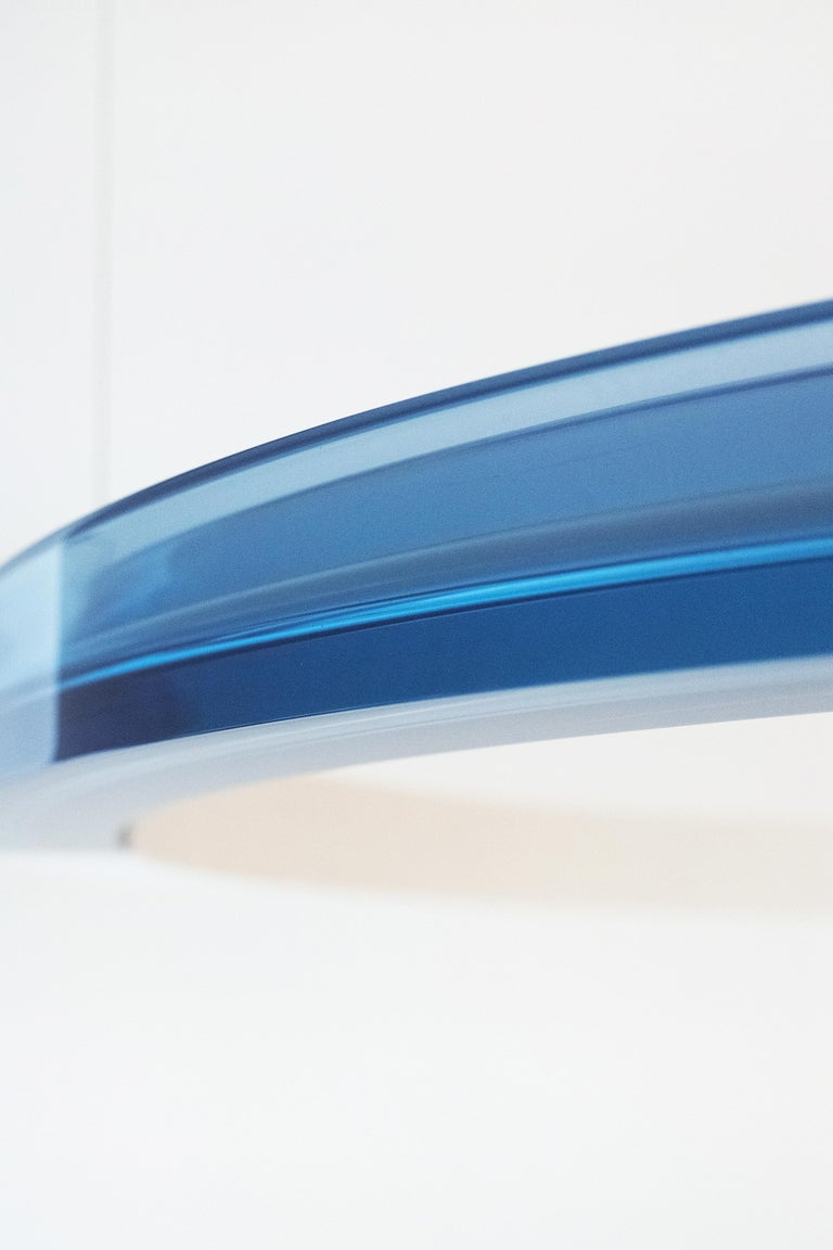Sabine Marcelis Contemporary Blue Resin Circular Chandelier, Filter Series, 2020 In New Condition For Sale In Barcelona, ES