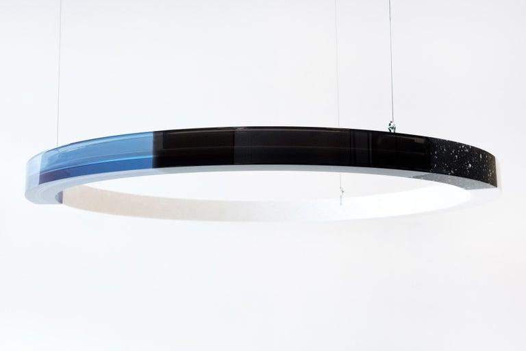 Sabine Marcelis Contemporary Blue Resin Circular Chandelier, Filter Series, 2020 For Sale 1