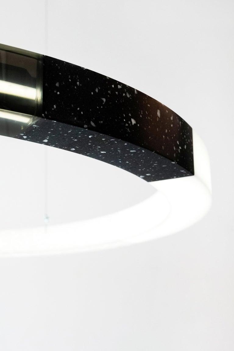 Sabine Marcelis Contemporary Blue Resin Circular Chandelier, Filter Series, 2020 For Sale 3