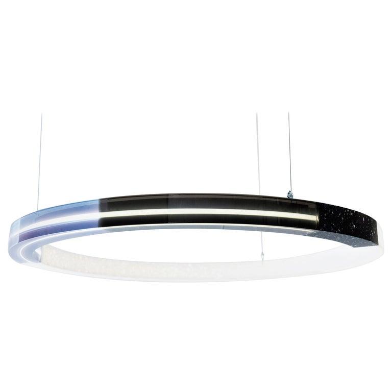 Sabine Marcelis Contemporary Blue Resin Circular Chandelier, Filter Series, 2020 For Sale