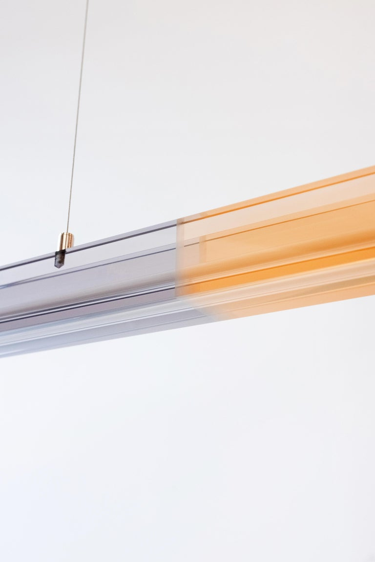 Sabine Marcelis Contemporary Horizontal Ochre Resin Chandelier, Filter Series In New Condition For Sale In Barcelona, ES