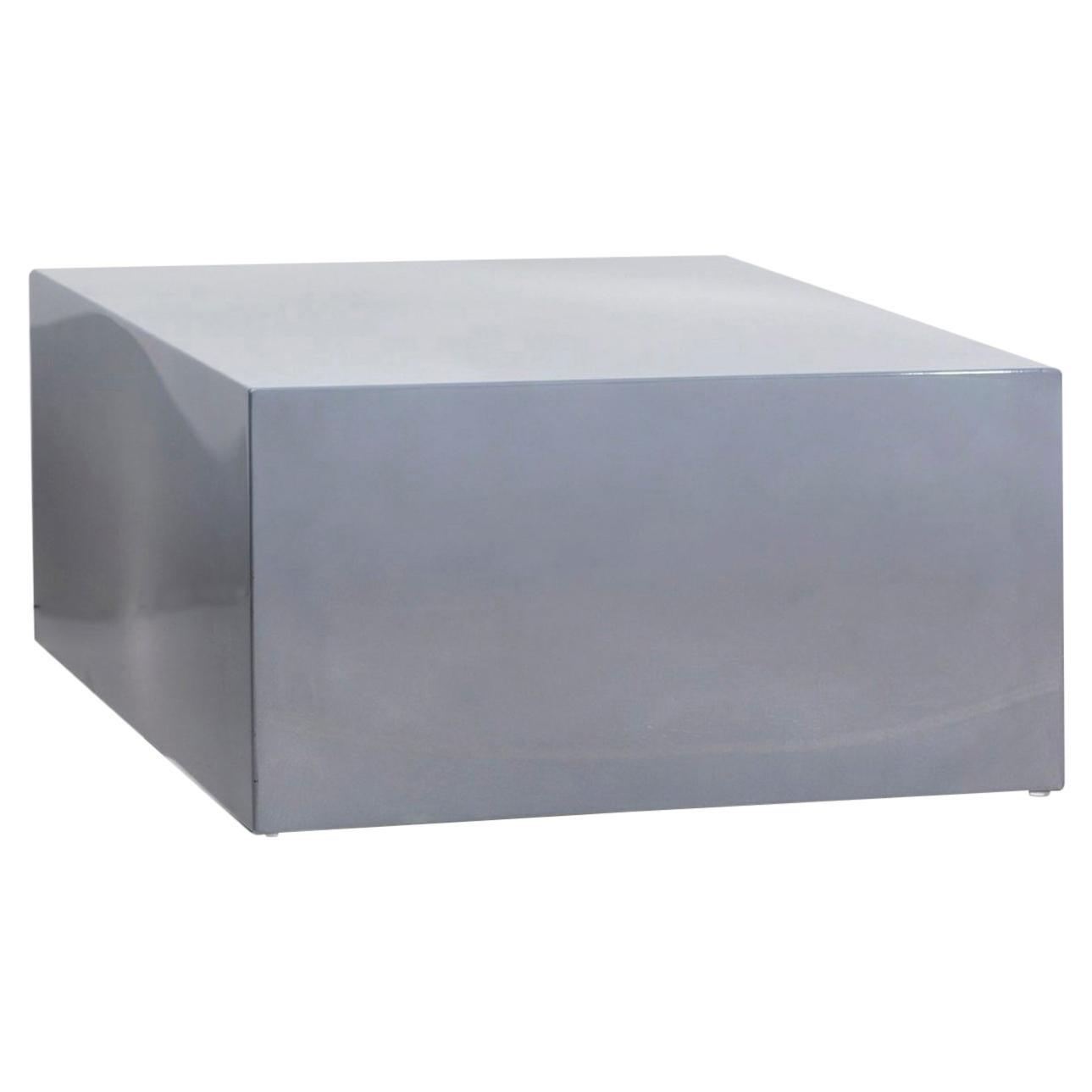 """Sabine Marcelis Side Table Model """"Candy Cube"""", Cast Resin, Silver/Grey, 2020"""