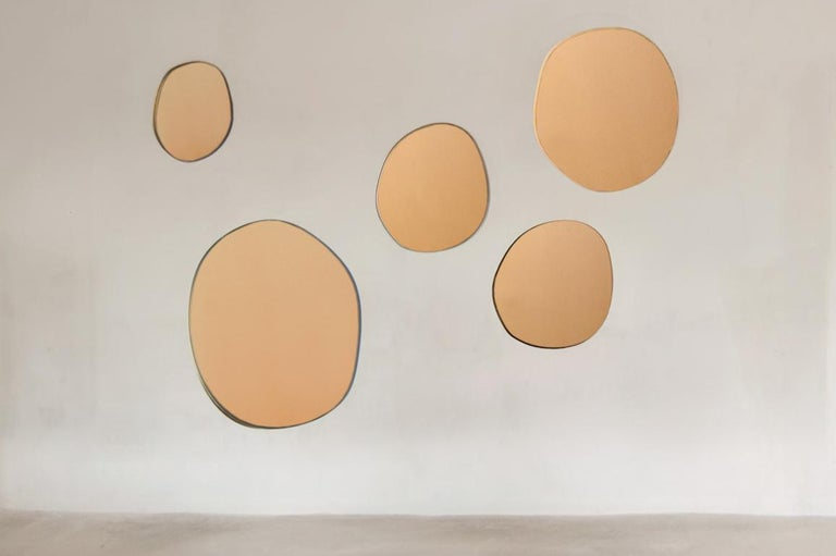 Dutch Sabine Marcelis Contemporary Wall Mirror Bronze Netherlands For Sale
