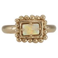 Sabine Ring with Australian Opal, 18 Karat Yellow Gold