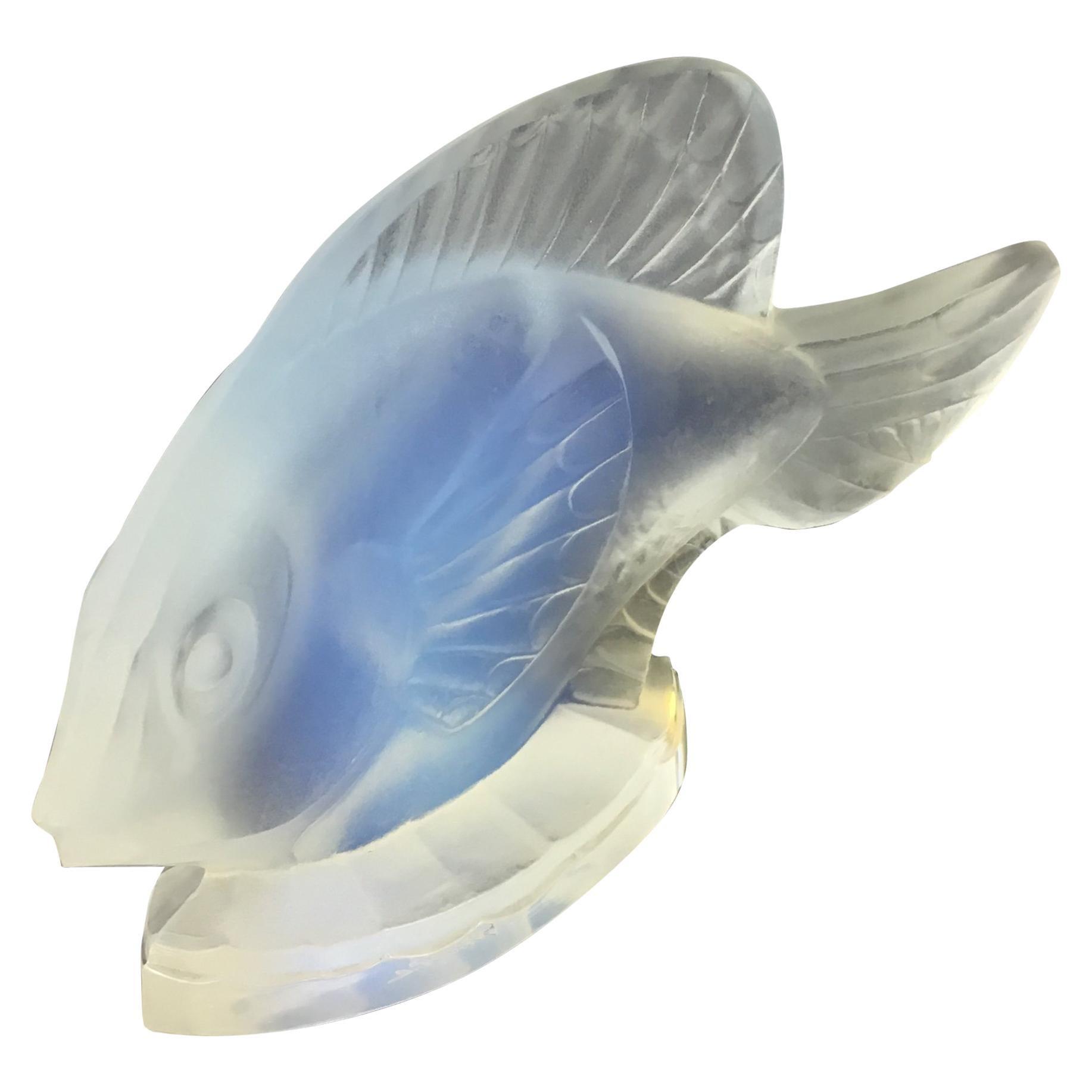 Sabino Opalescent Art Glass Fish Figurine