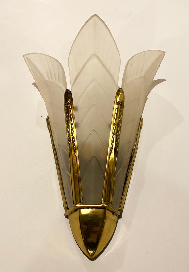 Marius-Ernest Sabino wall-sconces in the Palmes model Measures: Height 21