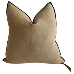 Sable French Linen Pillow