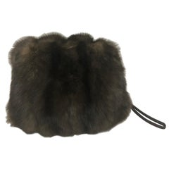 Sable Muff with Inside Zipper
