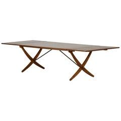 """""""Sabre Leg"""" Dining Table by Hans J. Wegner"""