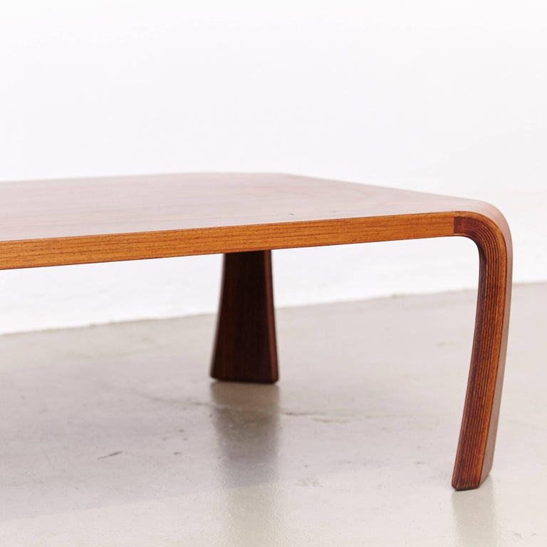 Rosewood Saburo Inui Coffee Table for Tendo, Japan, circa 1960 For Sale