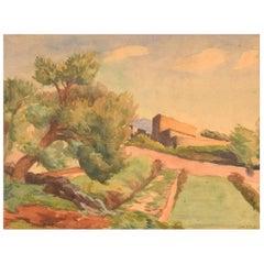 Saburosuke Okada, Japan, Watercolor on Paper, Landscape