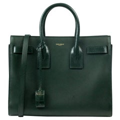 Sac de Jour in green leather
