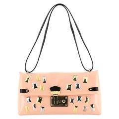 Sac Triangle Handbag Embellished Glazed Calfskin PM