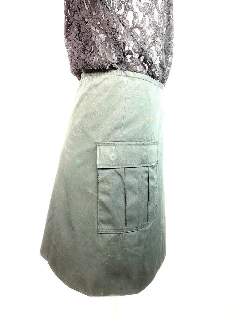 Sacai Luck Black Floral Lace Button- Down Shirt Wrap Mini Dress Size 3 For Sale 2