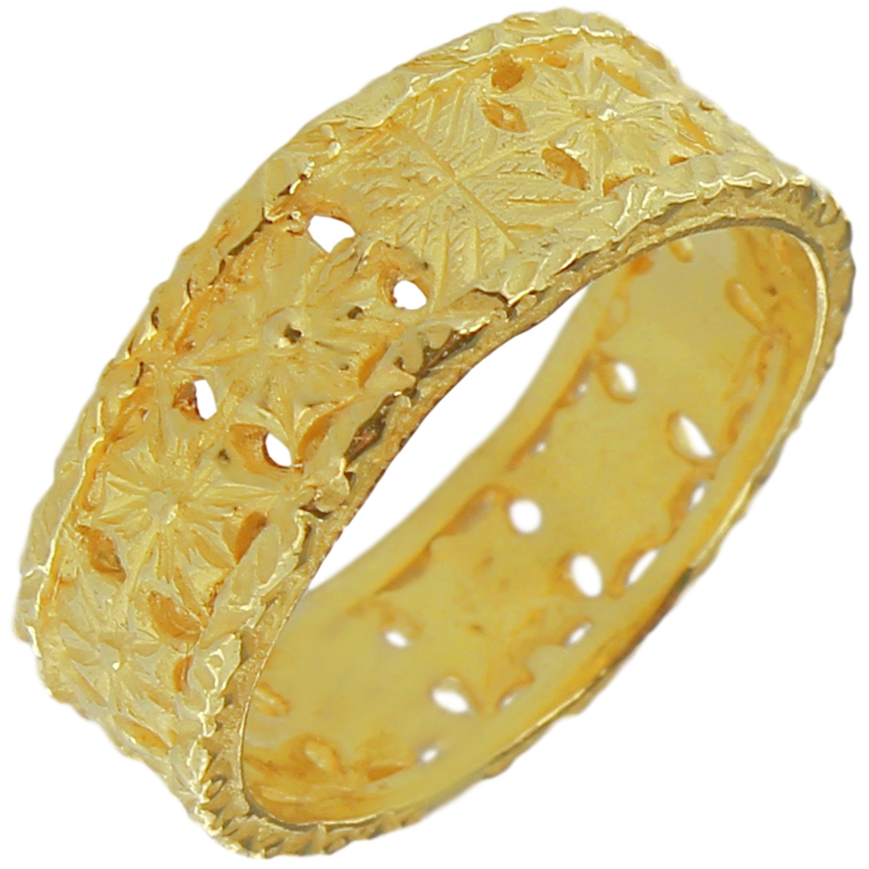 Sacchi 18 Karat Yellow Gold Decorative Band Ring