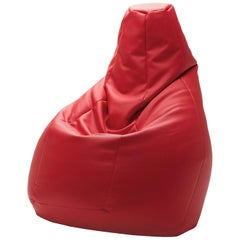 Sacco Easy Chair in Red by Gatti, Paolini, Teodoro