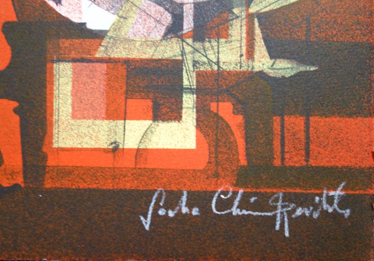 Jazz : Hot Swing- Original handsigned lithograph - Limited /275 - Print by Sacha Chimkevitch