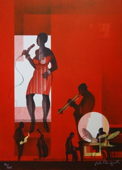Jazz : Hot Swing- Original handsigned lithograph - Limited /275