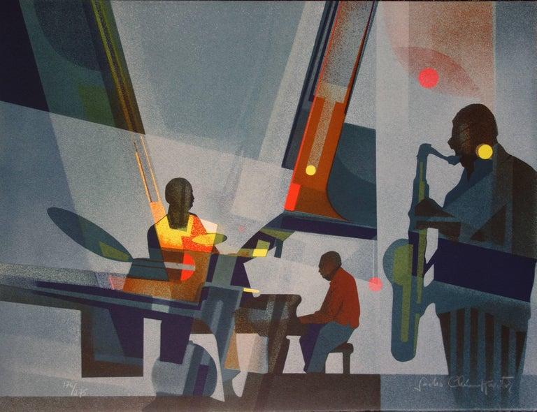 Sacha Chimkevitch Figurative Print - New Orleans : Jazz Band - Original handsigned lithograph - 275ex