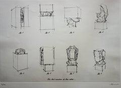 Eight Sculptural Faces - Original handsigned Etching / 99ex
