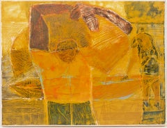 Yellow Ship with Workers Unloading  - Caribbean Art