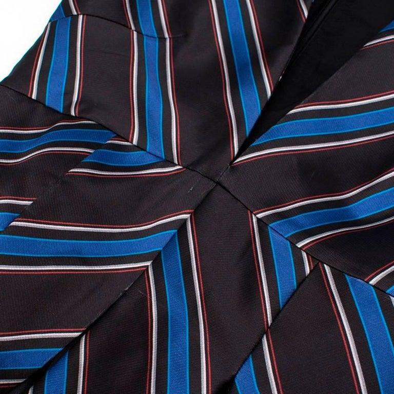 Women's Sachin & Babi Striped Satin-Twill Gown -Estimated UK Size Small