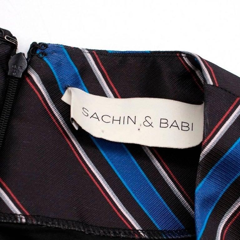 Sachin & Babi Striped Satin-Twill Gown -Estimated UK Size Small 1