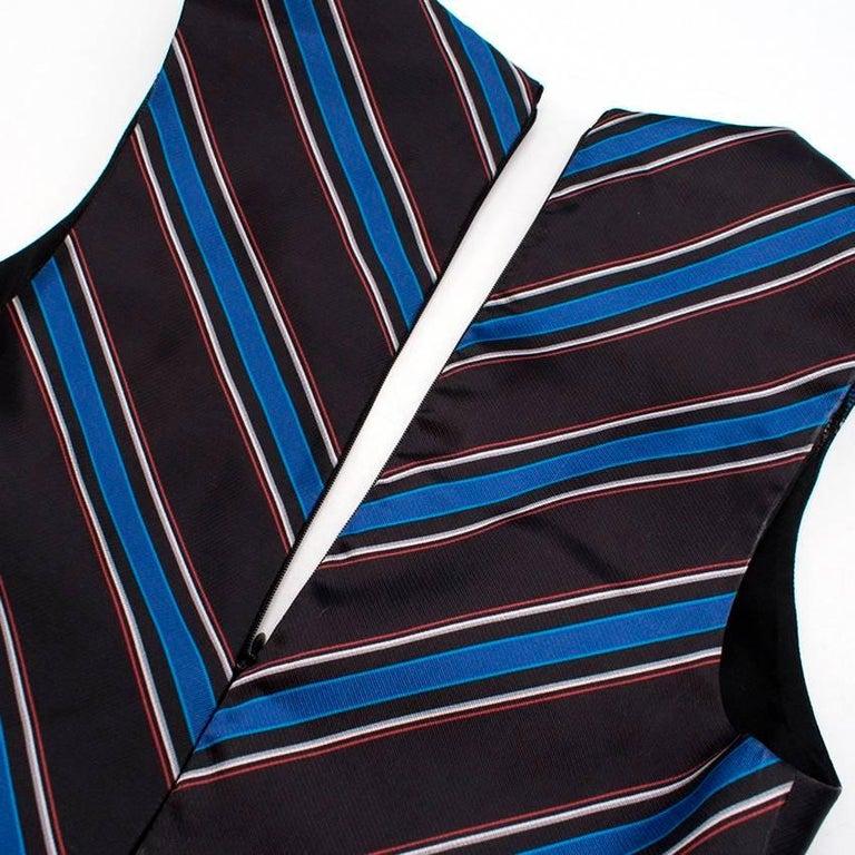Sachin & Babi Striped Satin-Twill Gown -Estimated UK Size Small 3