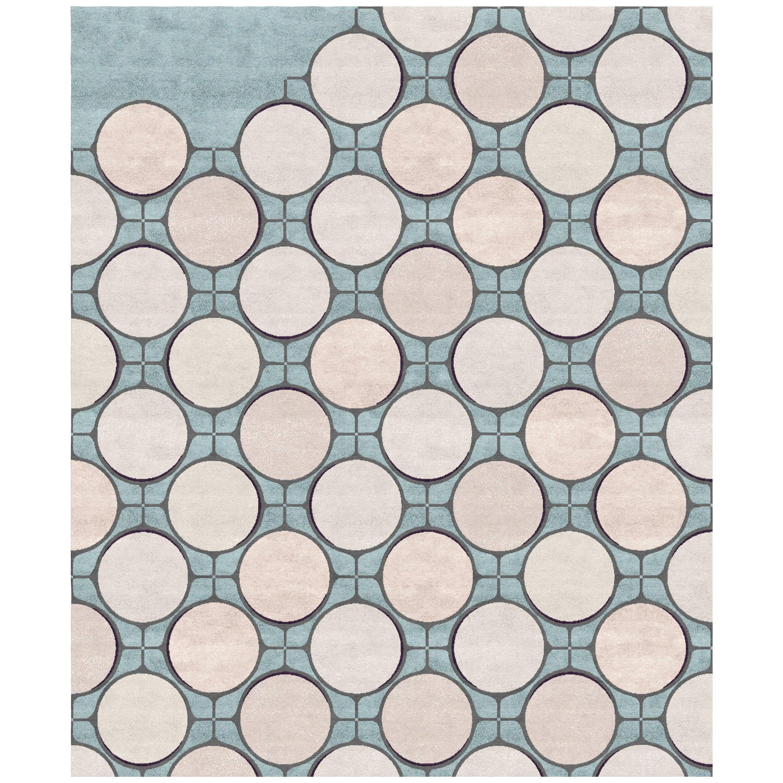 Sacre-Coeur - Geometric Ornament Hand Knotted Wool Silk Rug