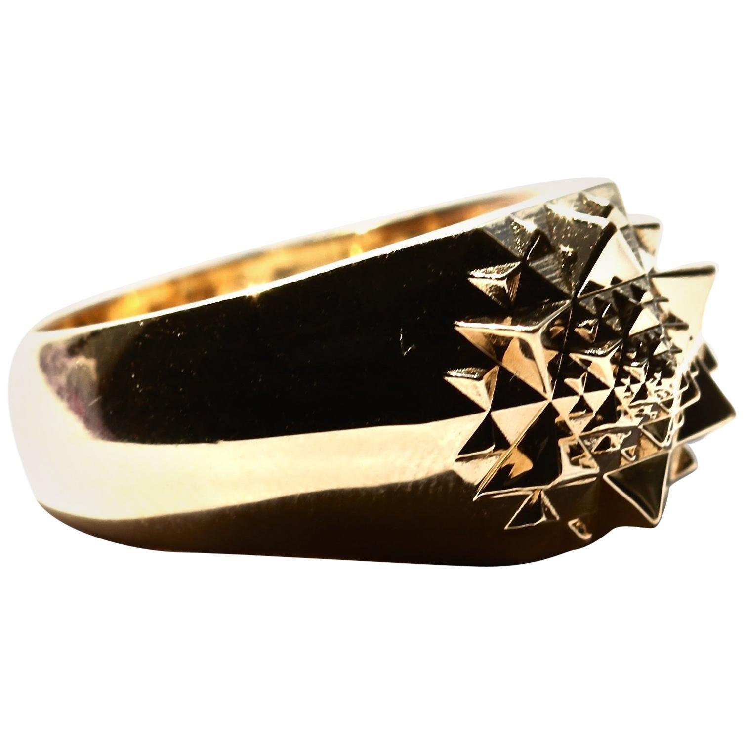 Unisex 18K Gold Sacred Signet Ring by John Brevard