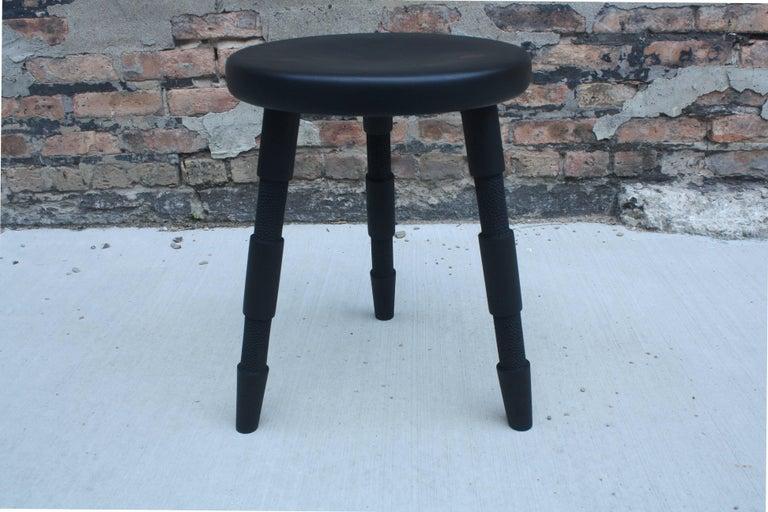 Ash Saddle, An Ebonized Walnut Wood Stool Handmade by Laylo Studio For Sale