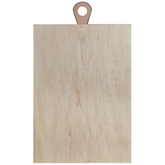 Saddle Cutting/ Serving Board Rectangle in Maple by Bowen Liu- In Stock