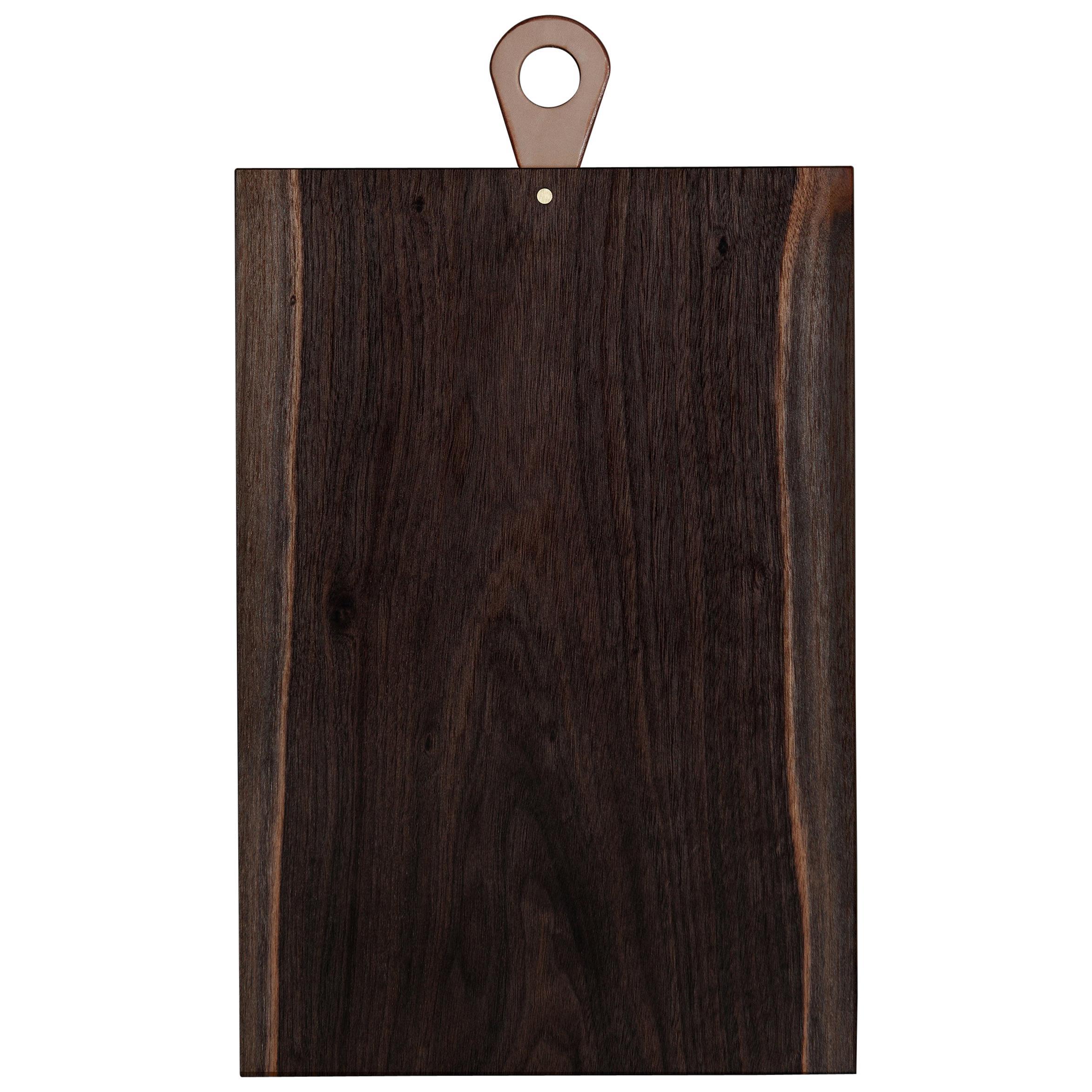 Saddle Cutting/ Serving Board Rectangle in Walnut by Bowen Liu- In Stock