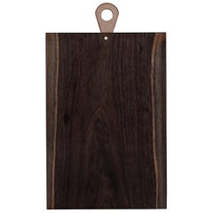Saddle Cutting/ Serving Board Rectangle in Walnut by Bowen Liu- In Stock