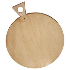 Saddle Cutting/ Serving Board, Round, in Maple