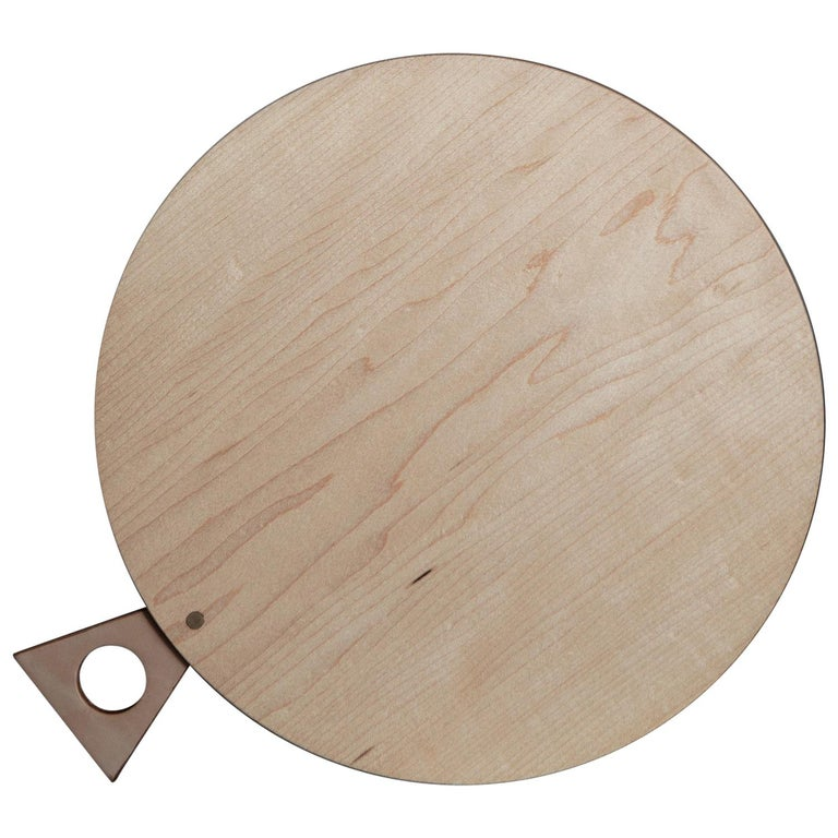 Saddle Cutting/ Serving Board Round in Maple by Bowen Liu- In Stock For Sale