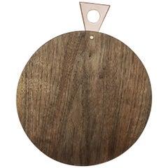 Saddle Cutting/ Serving Board, Round, in Walnut