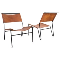 Saddle Leather Lounge Chairs 1960s Dutch A Dolleman for Metz & Co