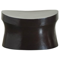 Saddle Seat Drumstool, Black Copper by Robert Kuo, Limited Edition