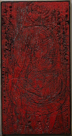 Red Seated Figure