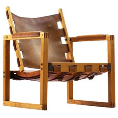 Safari Chair by Peder Hansen in Eucalyptus Wood and Cognac Leather, New Zealand