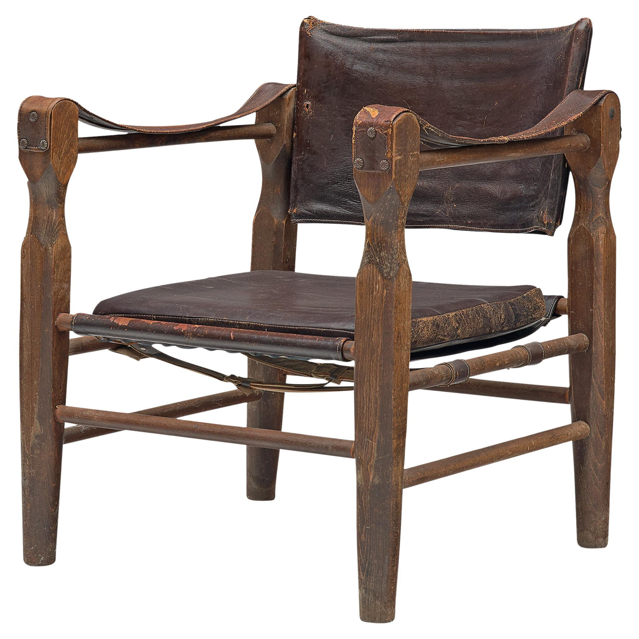 Safari Chair with Sculptural Wooden Frames