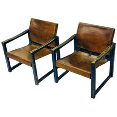 Safari Chairs Karin Mobring, Leather 1970