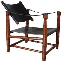 Safari Leather Chair 1940s Art Deco