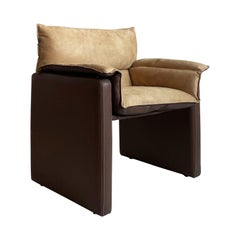 Safari Suede and Leather Dinner Chair, Carlo Bartoli for Rossi di Albizzate, #5