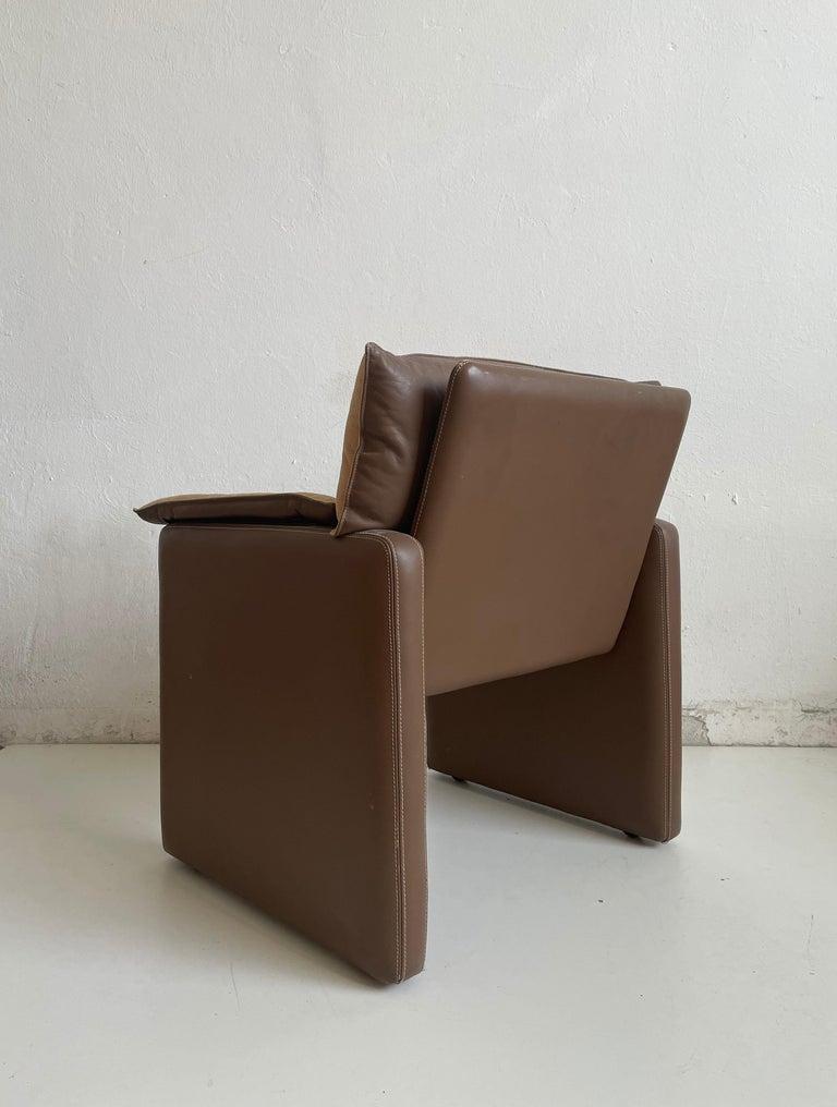 Safari Suede and Leather Dinner Chair, Carlo Bartoli for Rossi di Albizzate, 80s For Sale 4