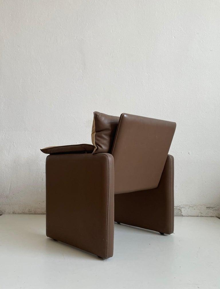 Safari Suede and Leather Dinner Chair, Carlo Bartoli for Rossi di Albizzate For Sale 2